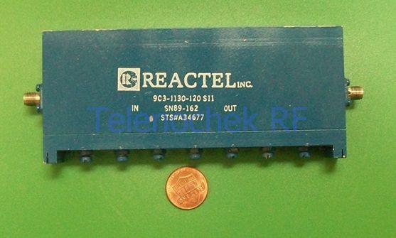 data 500 MHz BW RF IF microwave bandpass filter 1.2 GHz CF power 1 Watt CW